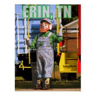 Doc, the L&N Leprechaun-Betsy Ligon Park, Erin, TN Postcards