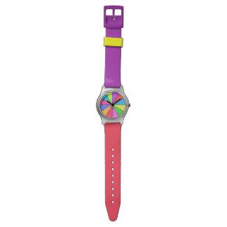 Doce colores de brillante relojes de mano
