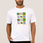 Doce Dachshunds coloridos Camiseta