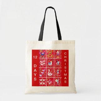 Doce días de navidad bolsa tela barata
