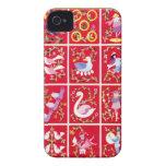 Doce días de navidad, el villancico tradicional Case-Mate iPhone 4 protectores