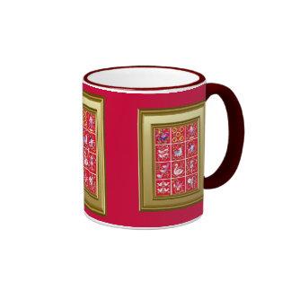 Doce días de navidad, el villancico tradicional taza de dos colores