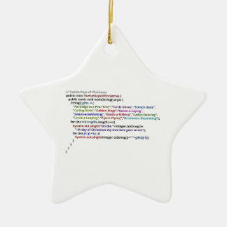 Doce días de navidad en Java y pitón Adorno Navideño De Cerámica En Forma De Estrella