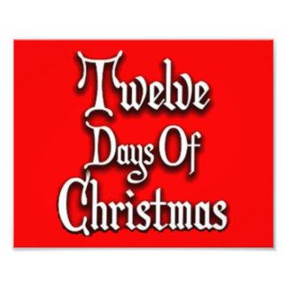 Doce días de navidad cojinete
