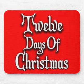 Doce días de navidad alfombrilla de ratón