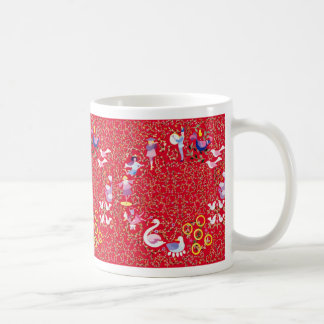 Doce días de navidad taza de café