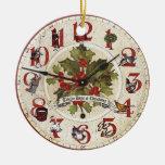 doce días de ornamento del reloj del navidad adorno para reyes