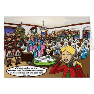 Doce días de tarjeta de Navidad