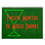 Doce meses de bebidas mezcladas básicas calendario de pared