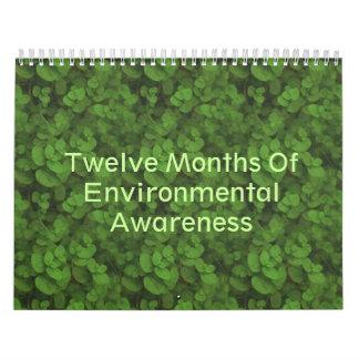 Doce meses de conciencia ambiental calendario de pared