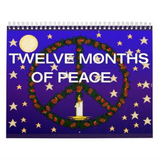 Doce meses de paz calendario de pared
