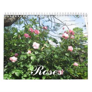 Doce meses de rosas hermosos calendarios de pared