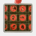 Doce proverbios, c.1558-60 adorno navideño cuadrado de metal