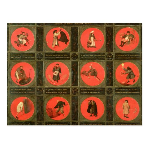 Doce proverbios, c.1558-60 tarjetas postales