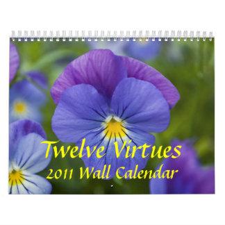 Doce virtudes, calendario de pared 2011