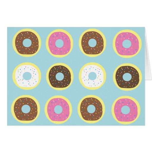 Docena anillos de espuma tarjeta de felicitación