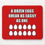 Docena huevos alfombrillas de raton