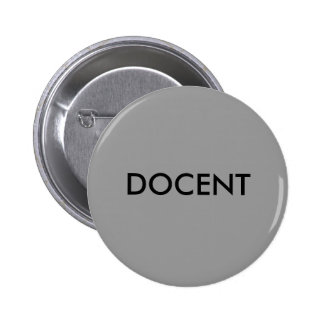 DOCENT PINBACK BUTTON