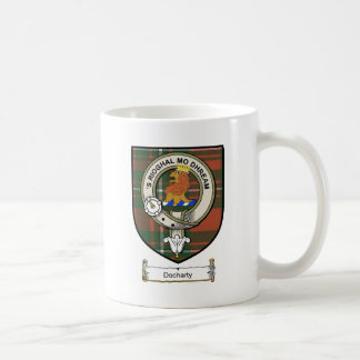 Docharty Clan Crest / Clan Badge & Tartan Coffee Mug