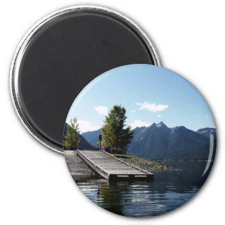 Dock and Boat Launch at the Lake 2 Inch Round Magnet
