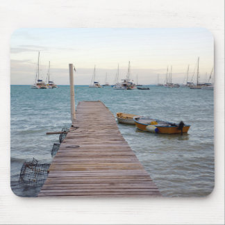 Dock and lobster pots mouse pad
