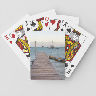 Dock and lobster pots playing cards