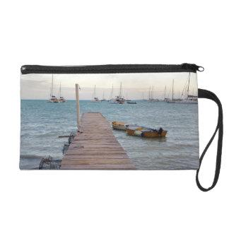 Dock and lobster pots wristlet purse