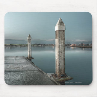 Dock at Dawn Mousepad Mouse Pads
