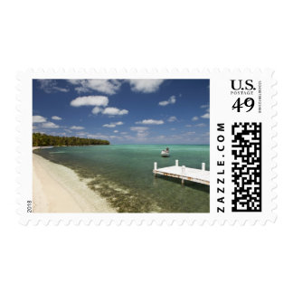 Dock at Half Moon Caye Natural Monument Postage Stamp