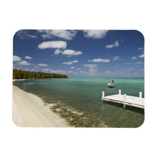Dock at Half Moon Caye Natural Monument Flexible Magnets