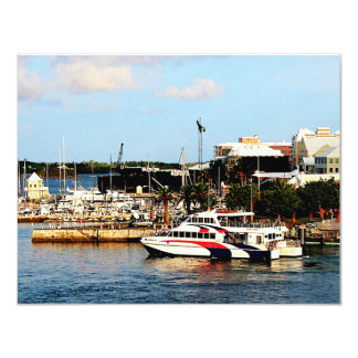 Dock at King's Wharf Bermuda Card