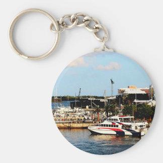 Dock at King's Wharf Bermuda Keychain