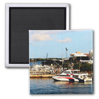 Dock at King's Wharf Bermuda Fridge Magnets