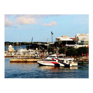 Dock at King's Wharf Bermuda Postcard