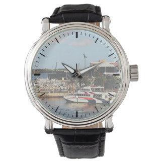 Dock at King's Wharf Bermuda Wrist Watches