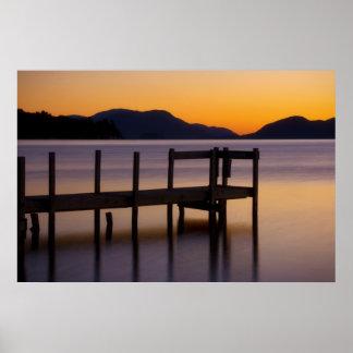Dock at Sunrise Poster