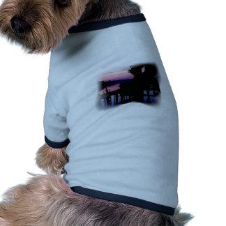 Dock at Sunset posterized Pet T Shirt