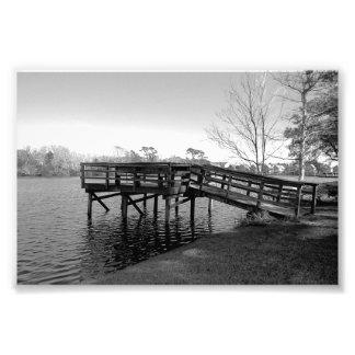 Dock B W Print Extra Small Art Photo