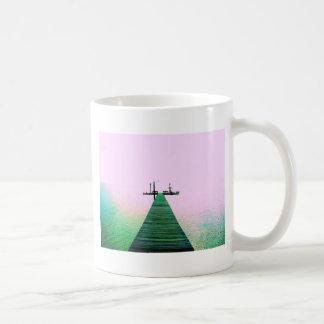 Dock Bay Ocean Calm Texas Coast Coffee Mug