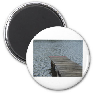 Dock by lake 2 inch round magnet