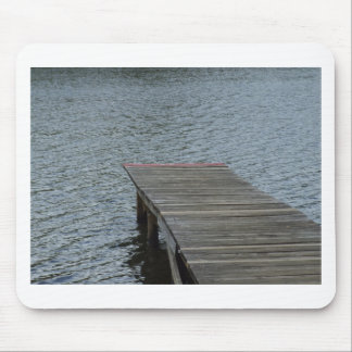 Dock by lake mouse pad