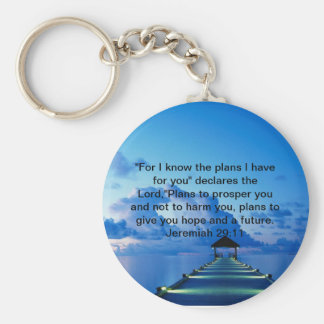 """Dock, """"For I know the plans I have for you"""" dec... Keychain"""