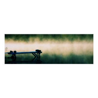 Dock in Mist Panoramic Poster