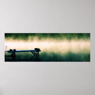 Dock in Mist Panoramic Poster