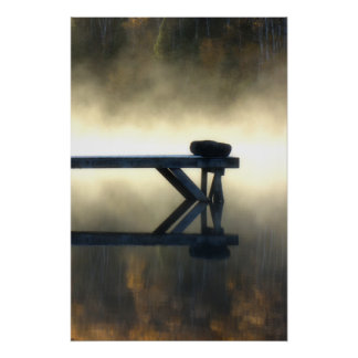 Dock in Morning Mist Print