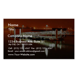 Dock In San Diego Bay Business Card Template