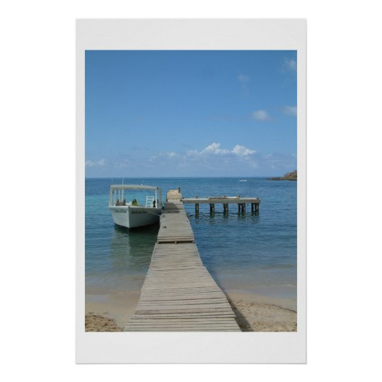 Dock in The Sun Poster