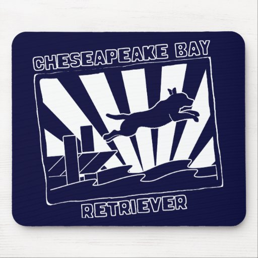 Dock Jumping Chesapeake Bay Retriever Mouse Pads