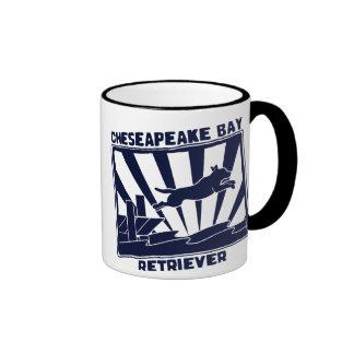 Dock Jumping Chesapeake Bay Retriever Ringer Mug