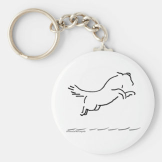 Dock Jumping Dog Key Chains